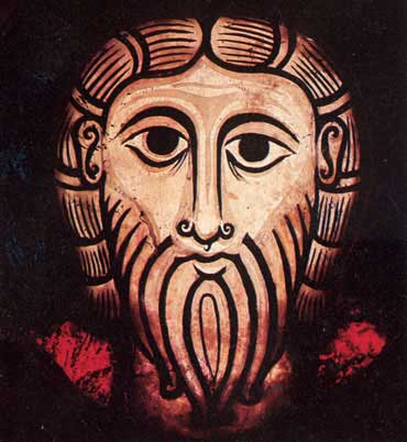 Head of Christ c. 1170, from the Rhineland